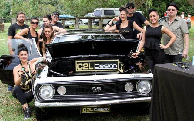Doing our bit for charity at the Gold Coast Car Show..